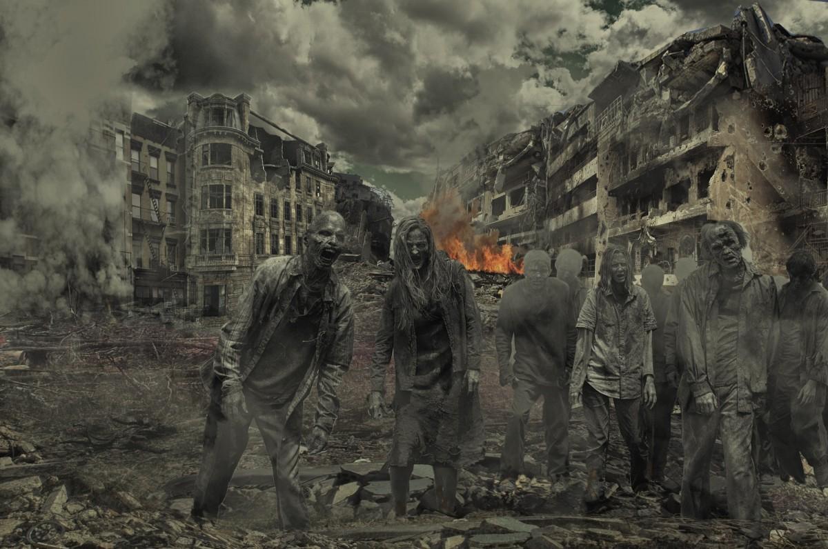soldado terreno Zombies horror apocalipsis captura de pantalla muertos vivientes Ciudad destruida