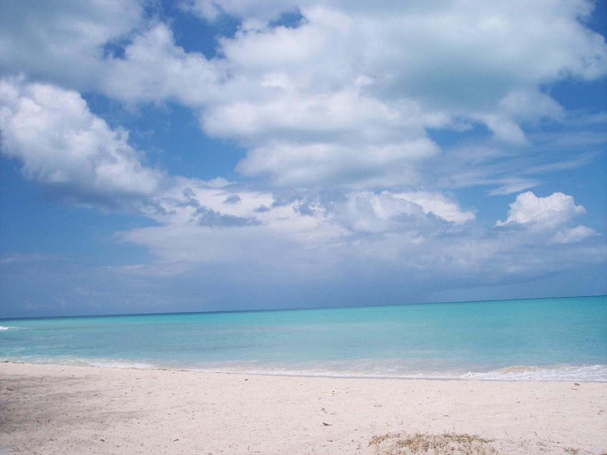 blue ocean clouds scenic - photo #39