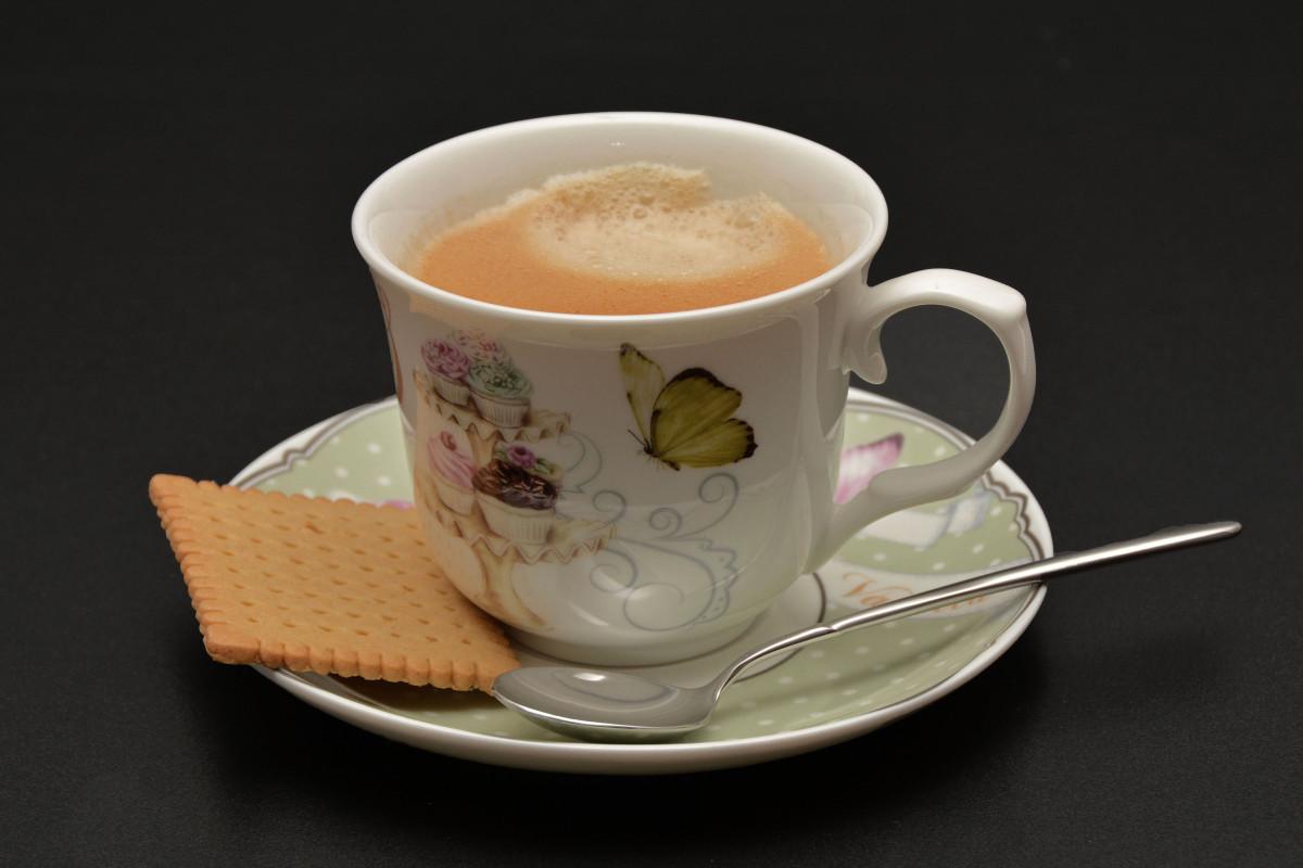 Kostenlose Foto Tasse Latté Cappuccino Gericht