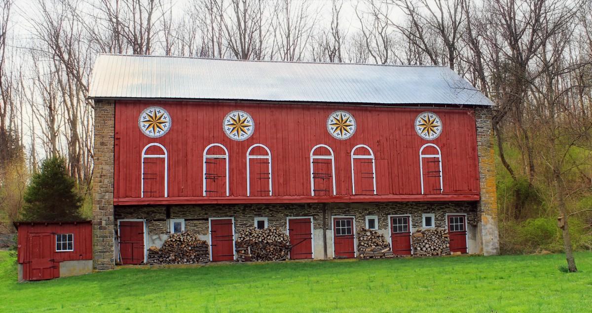 Grass, Farm, House, Building, Barn, Home