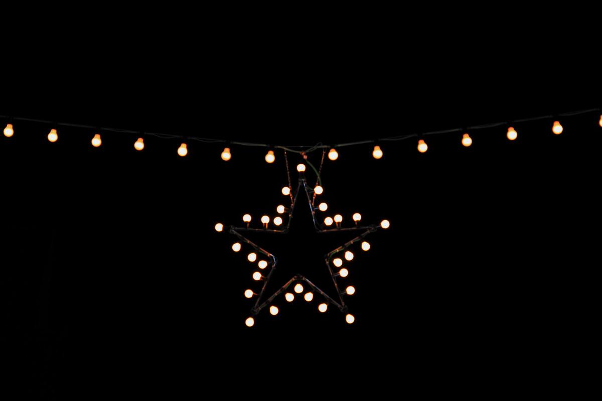Gambar : cahaya, malam, bintang, dekorasi, garis
