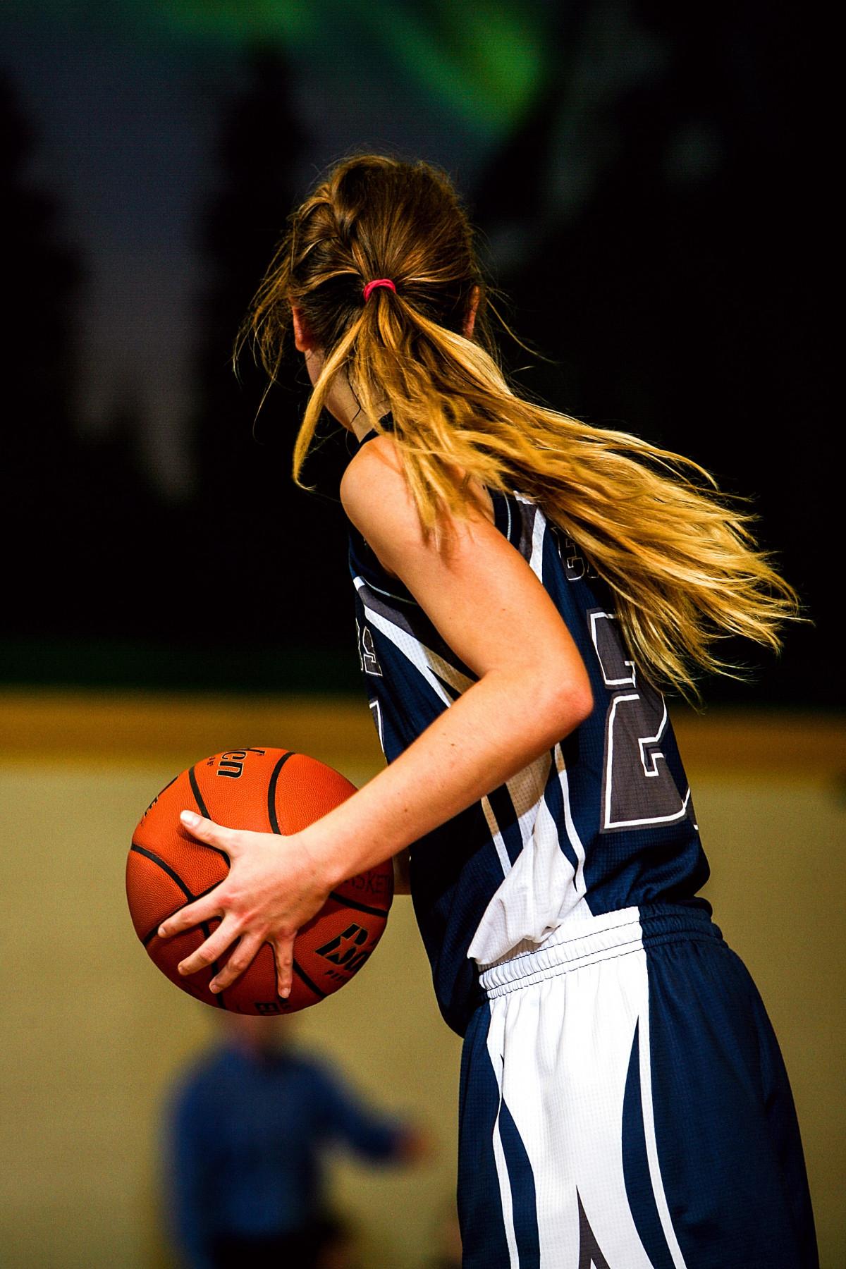Девушки играют в баскетбол фото