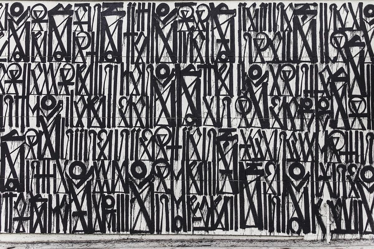 Gambar cabang hitam dan putih perkotaan pola for Mural hitam putih