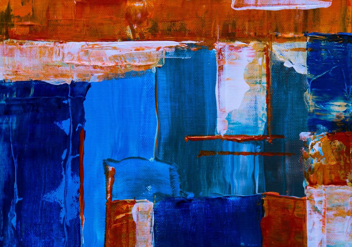 Images Gratuites Bleu La Peinture Art Moderne Mur