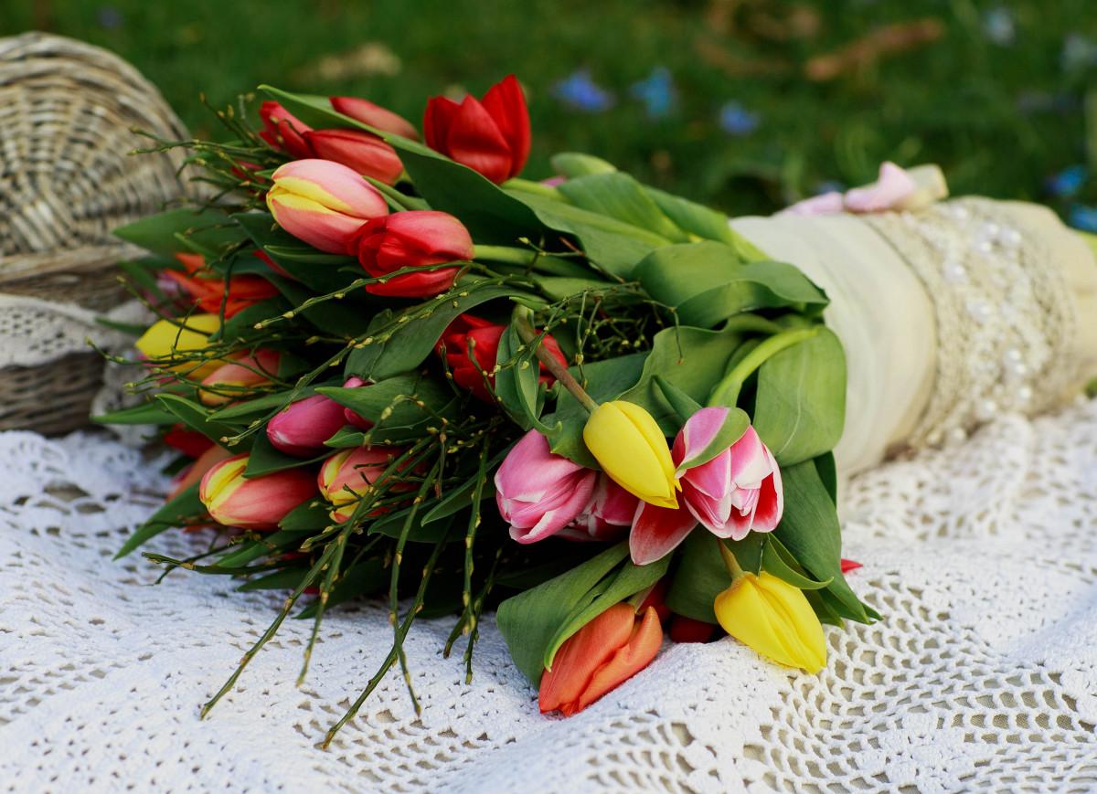 Букетов, цветы в букете весенние