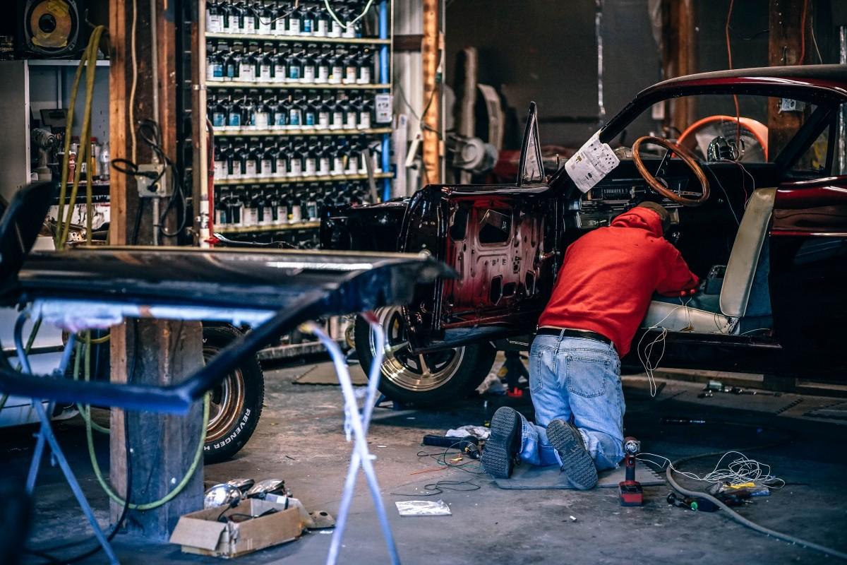 welder, vehicle, welding, mechanic, automobile repair shop, auto mechanic, car