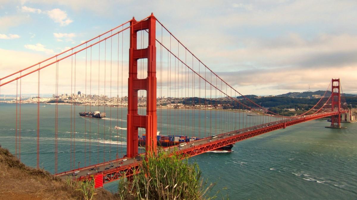 sea, bridge, golden gate bridge, san francisco, suspension bridge, usa, america, california, places of interest, cable stayed bridge, nonbuilding structure, Free Images In PxHere