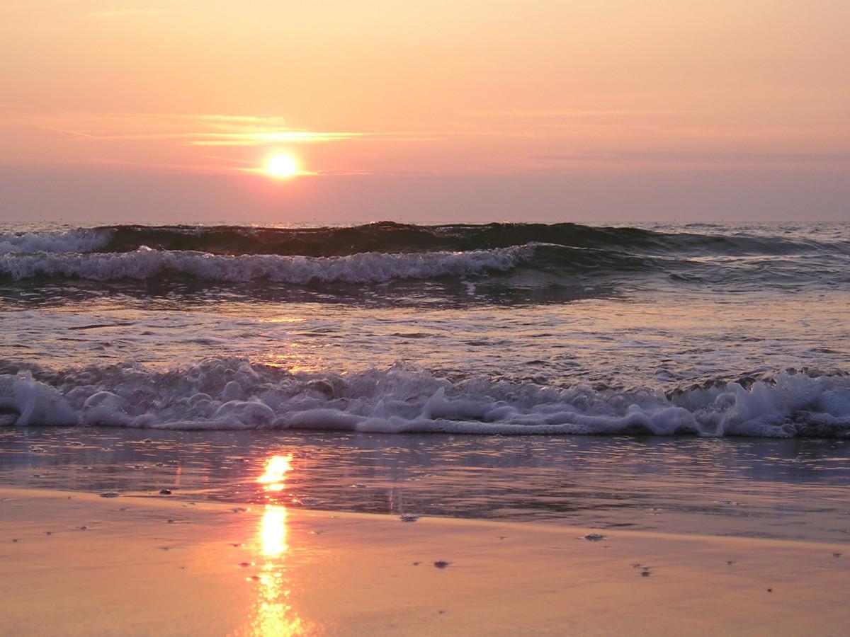 пляж берег закат живые картинки уникальные пространства играют