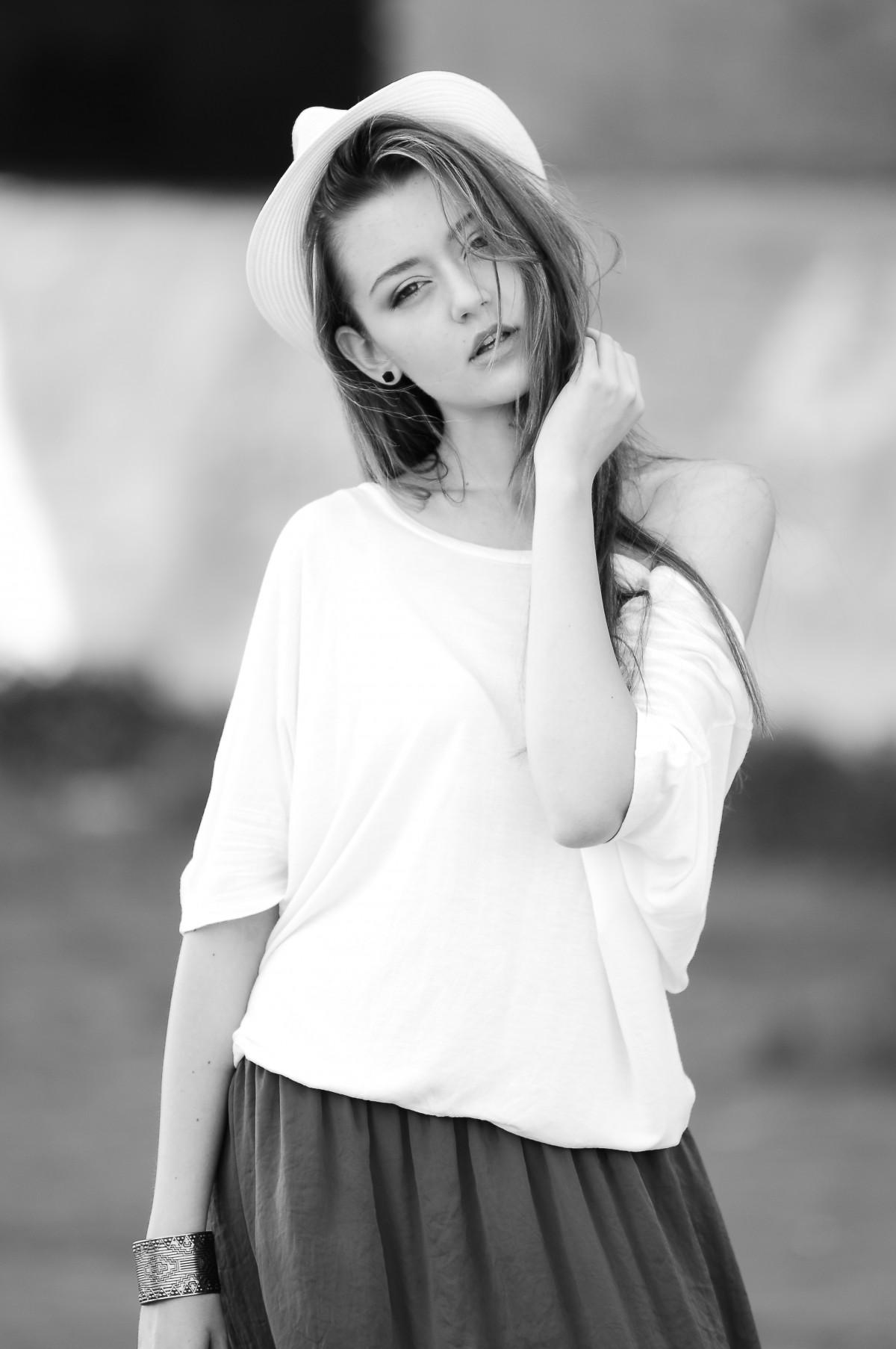Eccezionale Immagini Belle : bianco e nero, ragazza, donna, bianca, ritratto  YK28