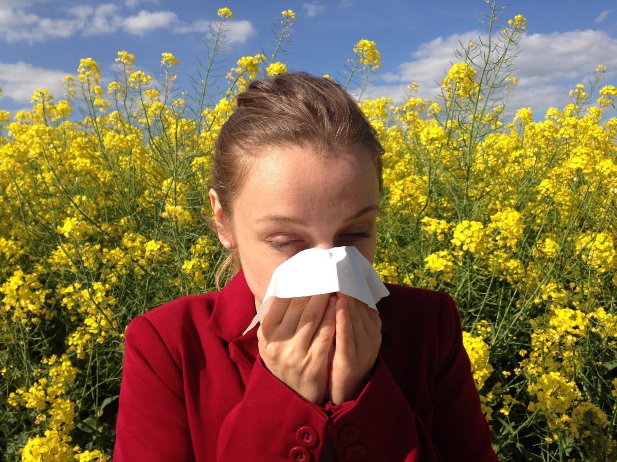 Pollen causes seasonal allergies in many people