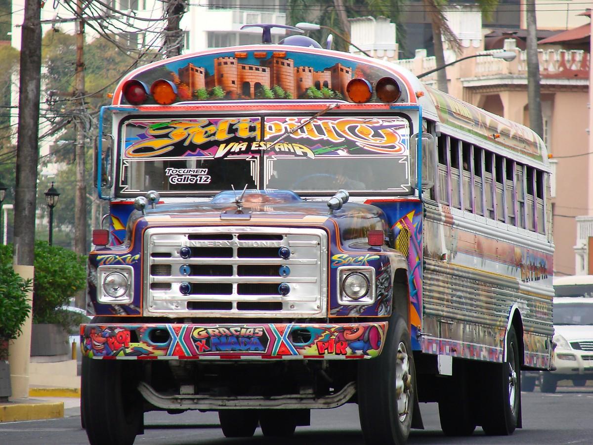images gratuites ville un camion v hicule transport public autobus bus de service panama. Black Bedroom Furniture Sets. Home Design Ideas