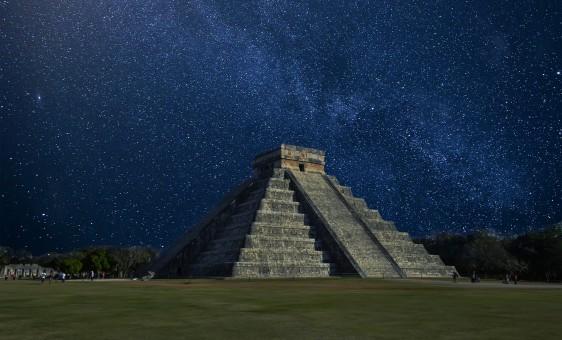 cielo,noche,estrella,Vía láctea,Monumento,pirámide