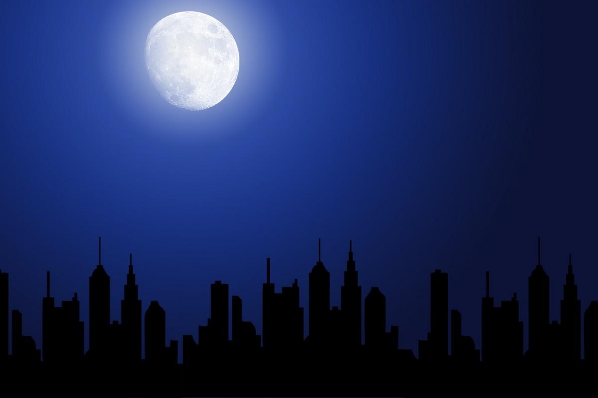 картинки ночного города рисунки