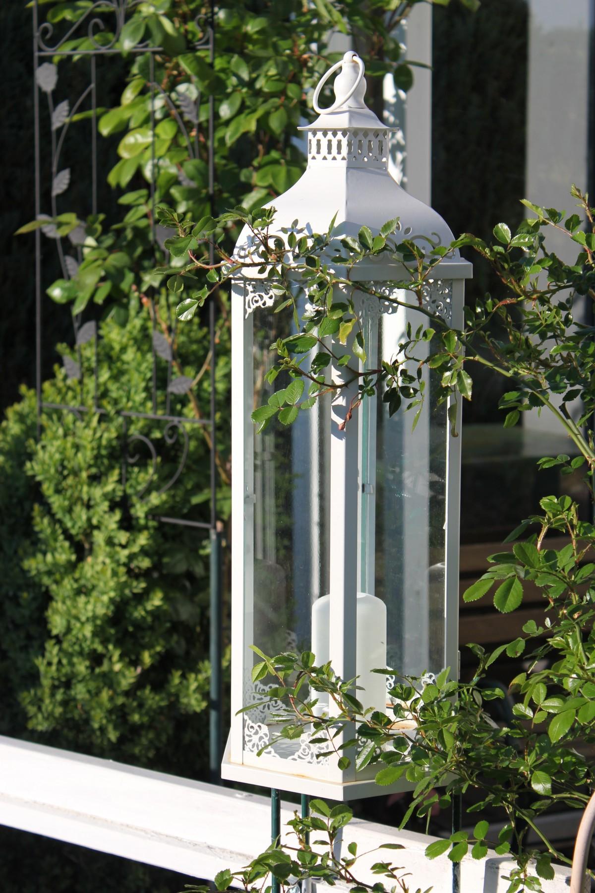 Kostenlose foto licht wei fenster atmosph re veranda dekoration laterne romantik - Laterne garten kerze ...