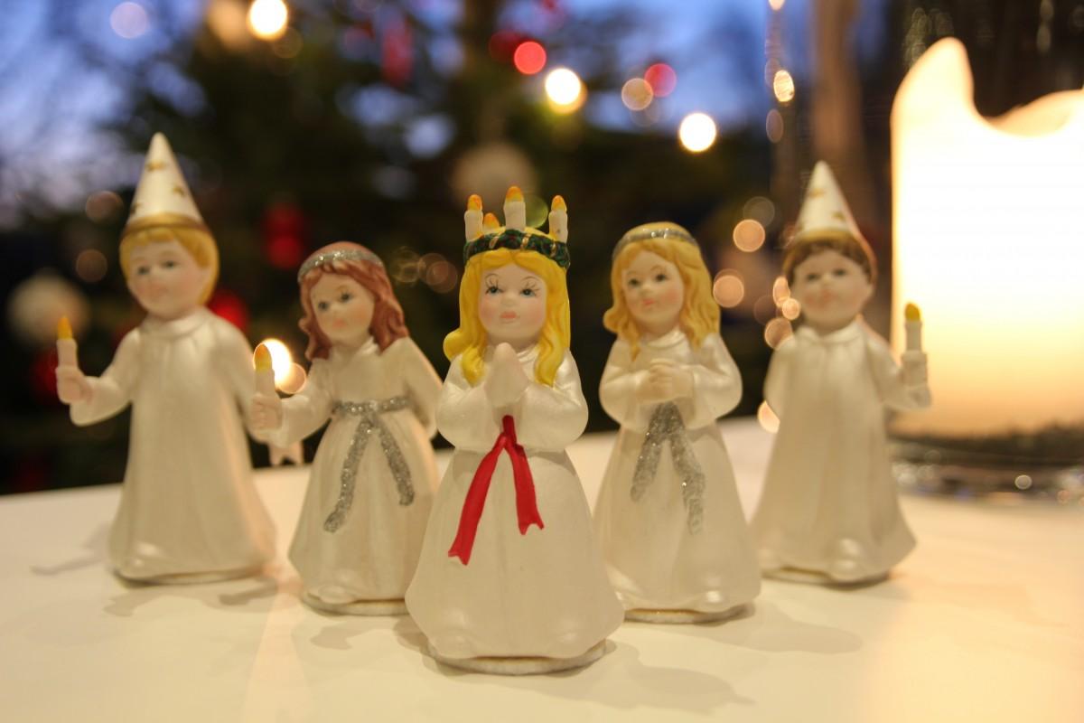barn, jul, leketøy, lucia, Jule dekorasjoner, lucia festival, lucia feiring, lucia prosesjon