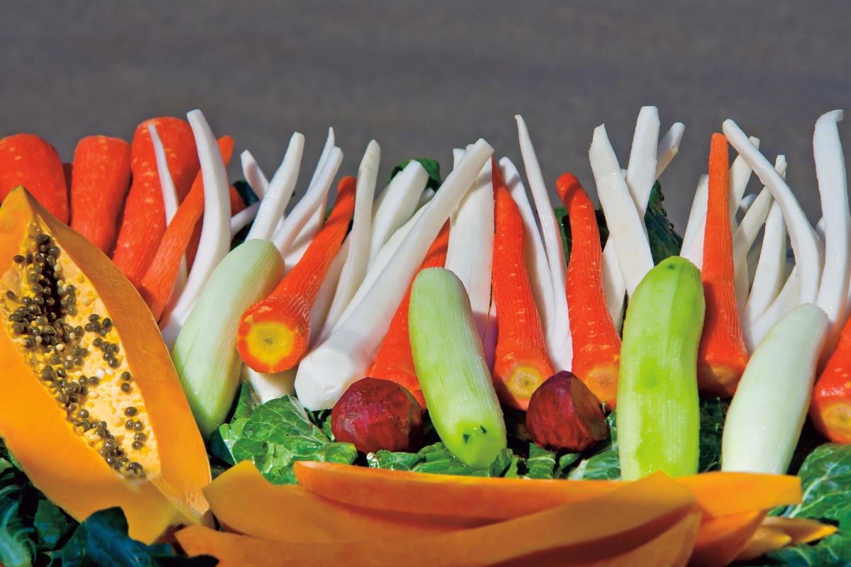 Images gratuites plat aliments salade produire for Nourriture poisson rouge carotte