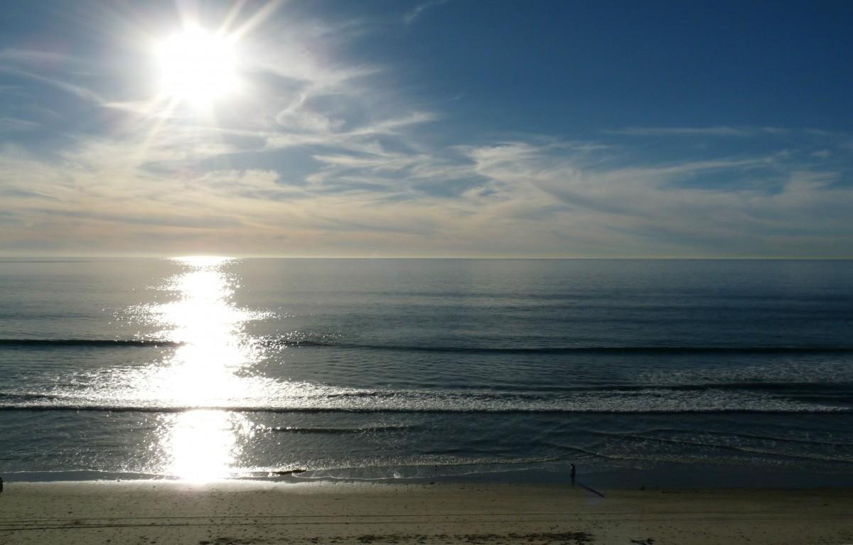 Stunning California Beach House Inspired By The Horizon: Banco De Imagens : De Praia, Mar, Costa, Agua, Oceano