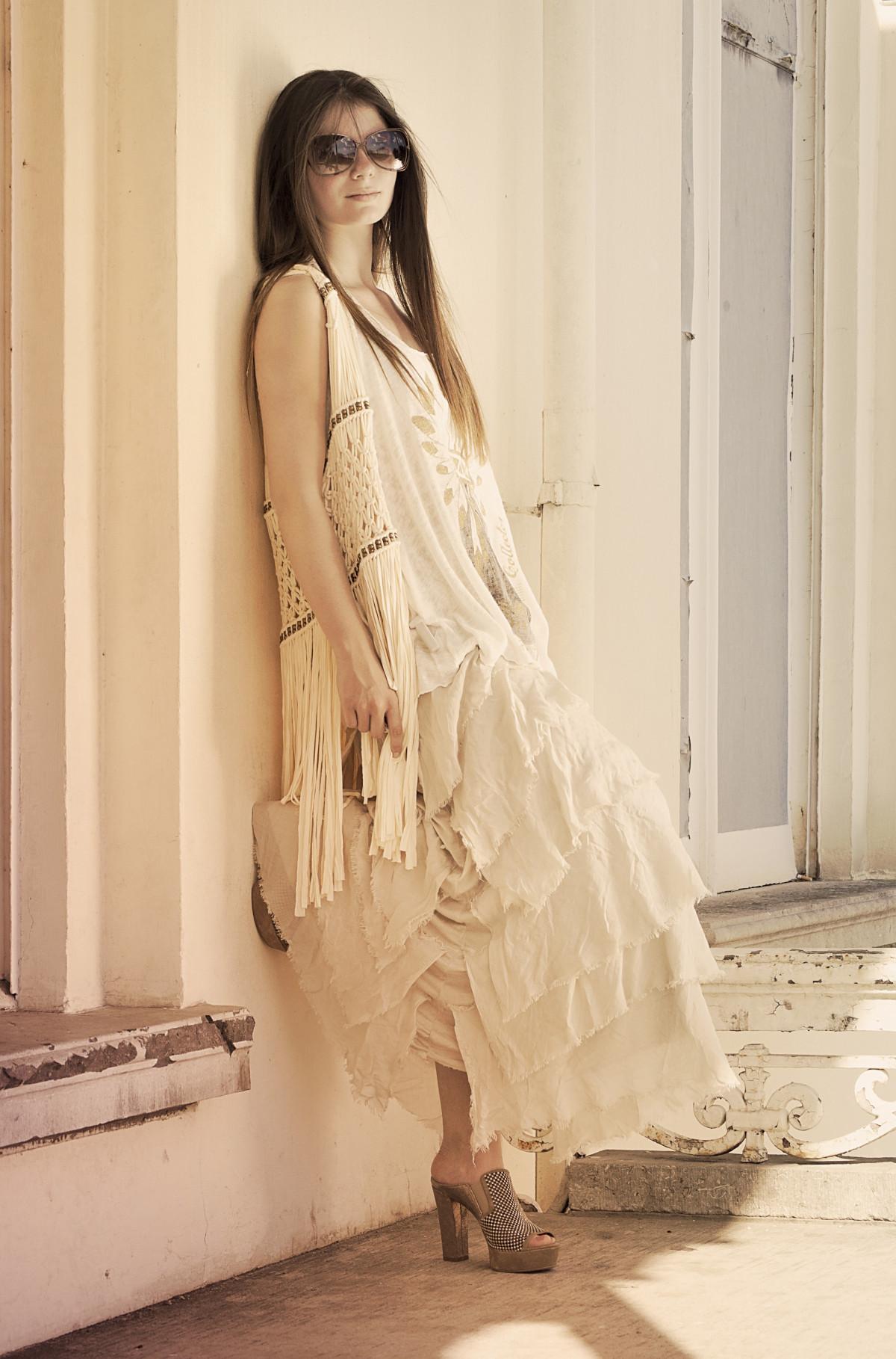 Poze Oameni Fată Femeie Alb Vară Brunetă Model Arc Modă