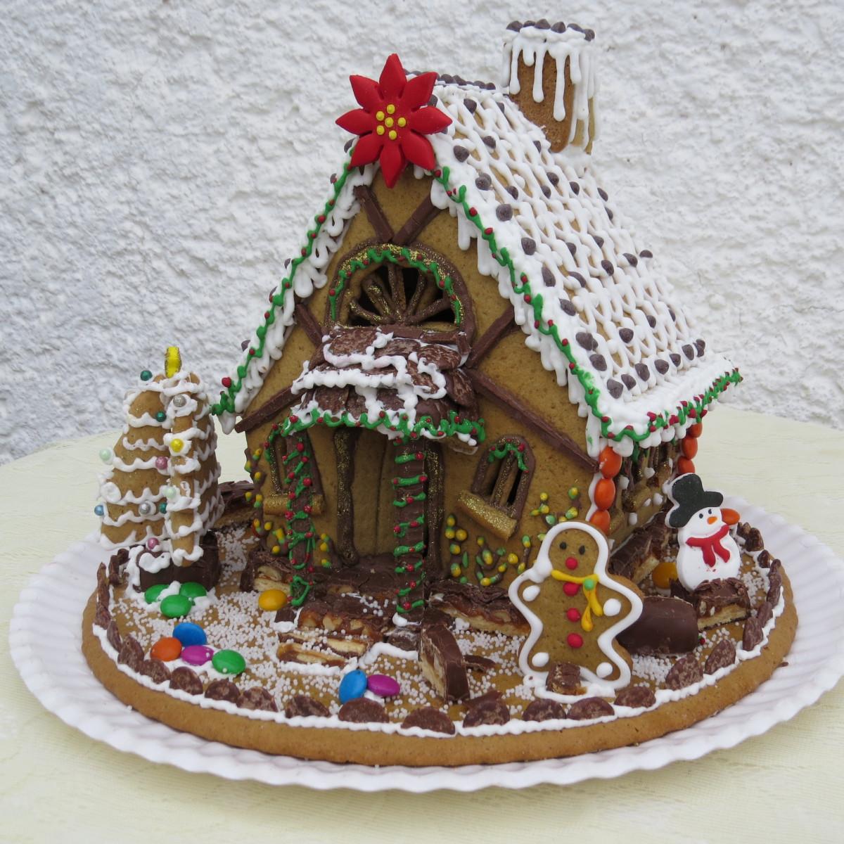 Торт новогодний домик рецепт с фото