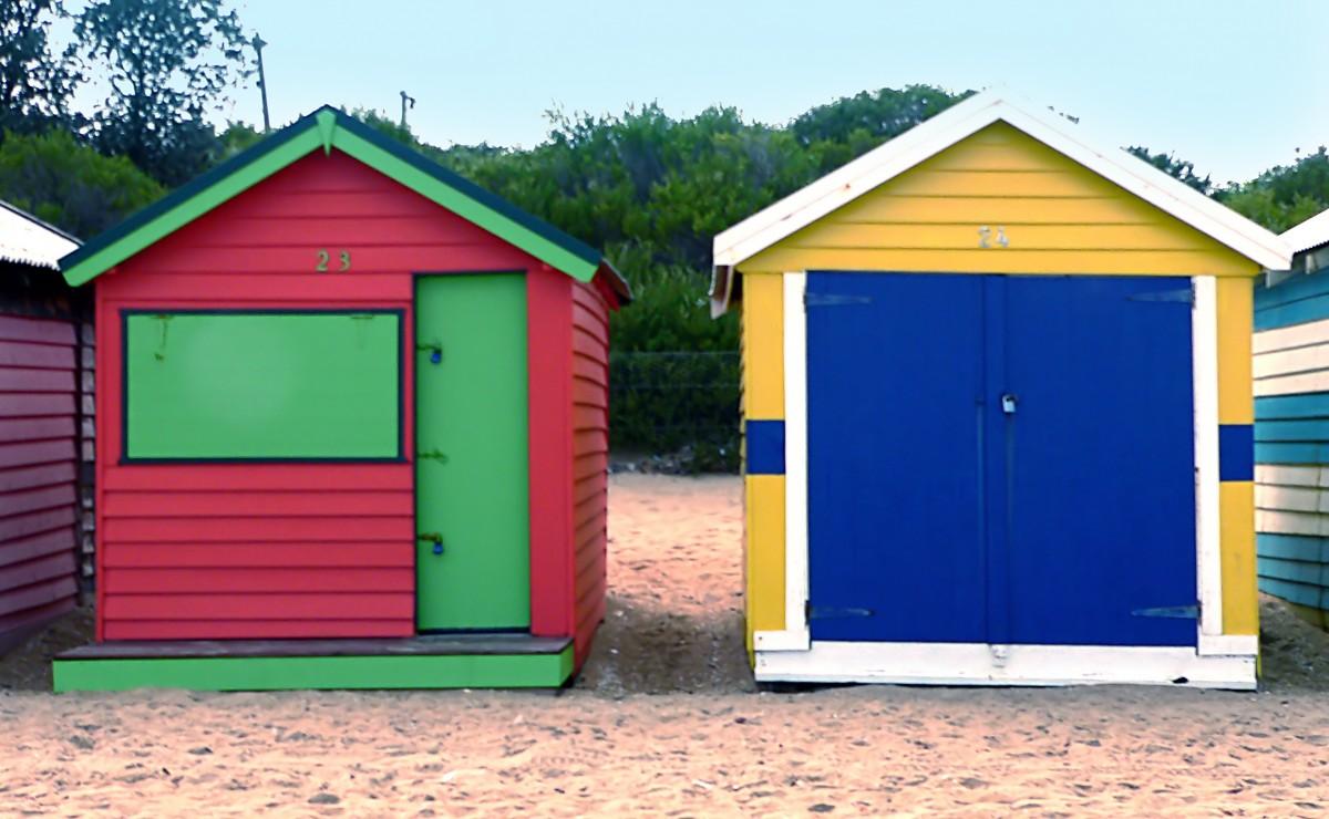 Free Images : building, shed, garage, australia, colours ...