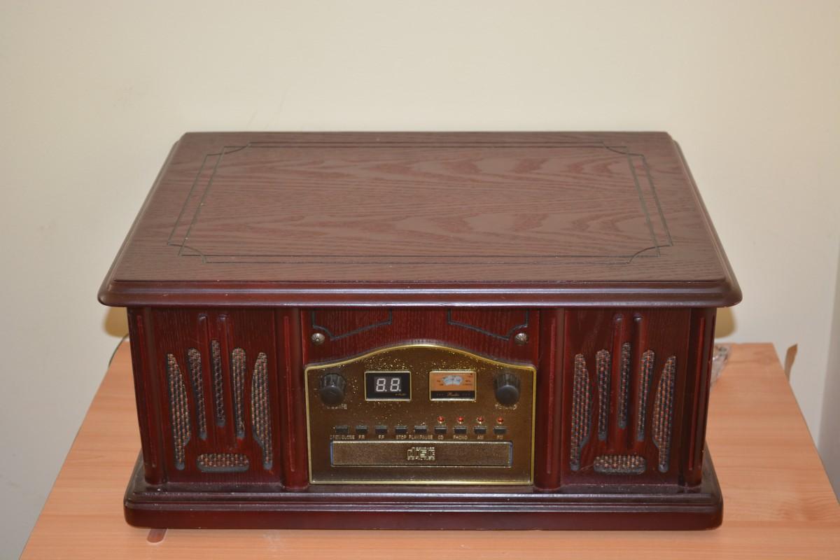 radio retro vintage music antique wooden brown wireless