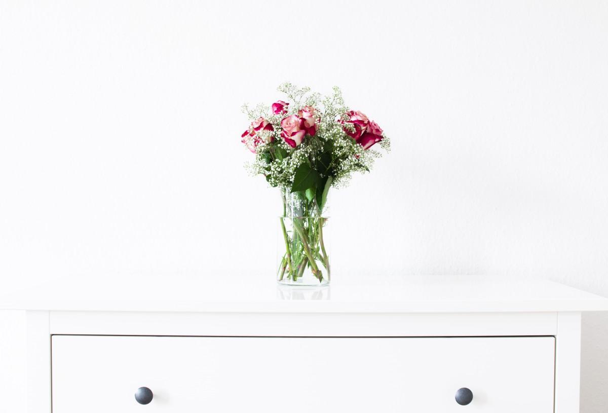 무료 이미지 : 표, 식물, 목재, 화이트, 꽃, 병 장식, 빨간, 가구 ...