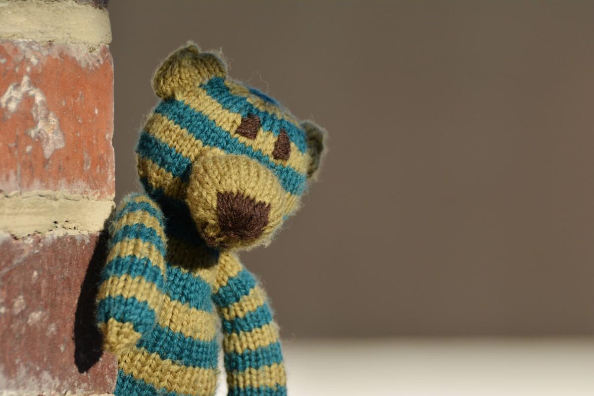 Kostenlose Foto Allein Bär Muster Blau Einsam Spielzeug