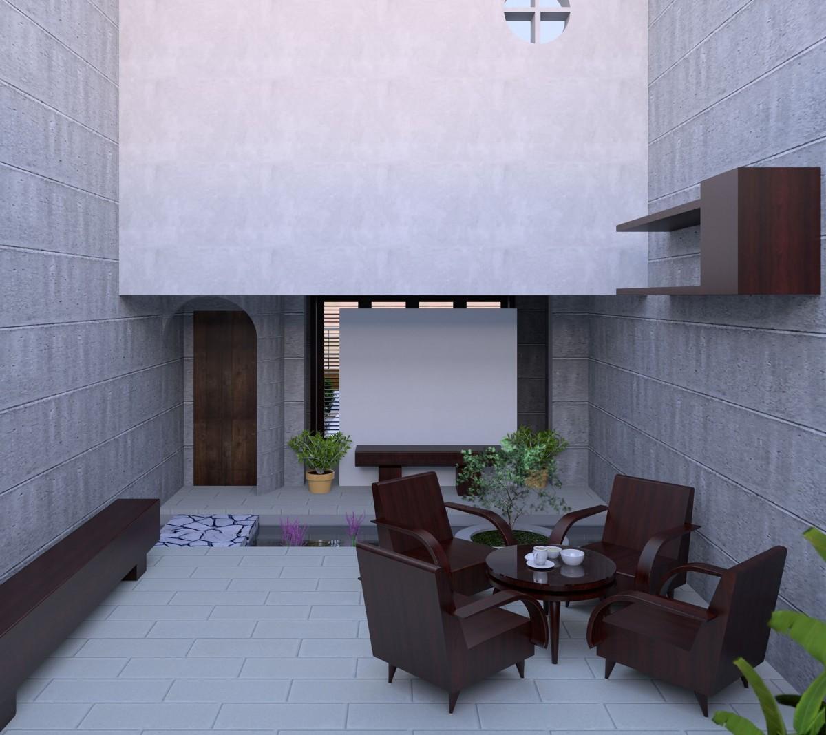 Gambar : Arsitektur, vila, rumah, lantai, bangunan, dinding, pemandangan, penglihatan, milik ...