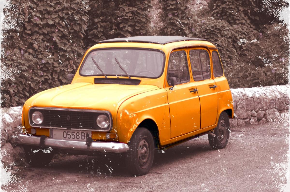 images gratuites cru v hicule voiture ancienne hayon renault voiture ancienne voiture de. Black Bedroom Furniture Sets. Home Design Ideas