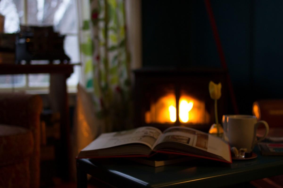kostenlose foto : buch, warm, hütte, feuer, gemütlich, kamin ... - Wohnzimmer Gemutlich Kamin