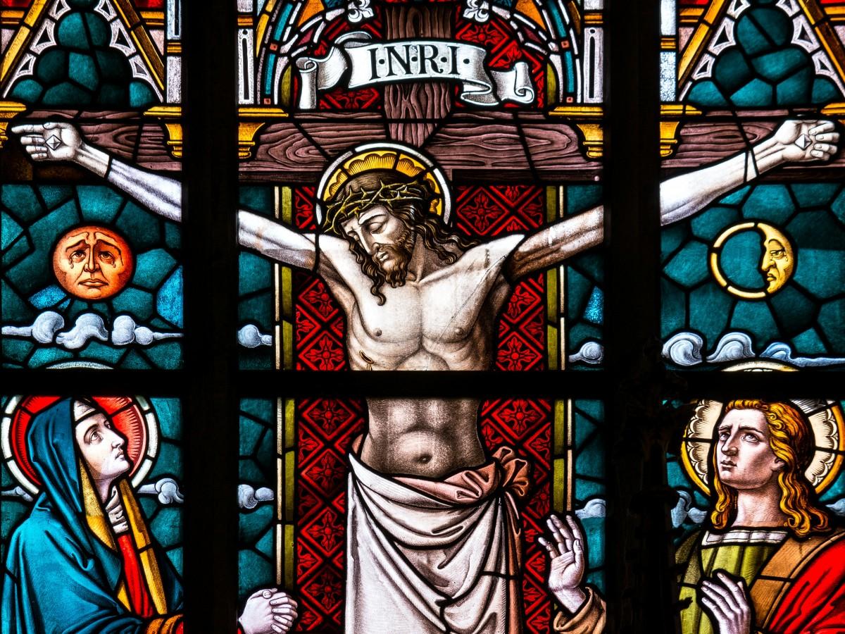 Window Glass Church Cross Christian Death