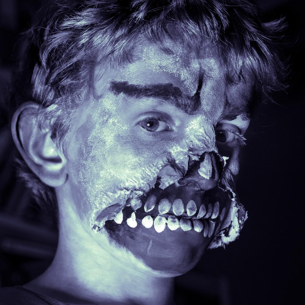 Images Gratuites Noir Et Blanc Portrait Halloween Enfant Obscurit Monochrome Bouche
