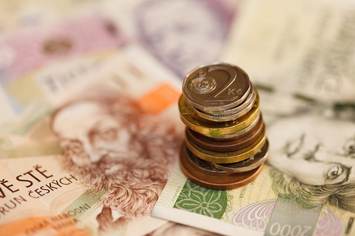 europe money business close up cash currency coin economy czech republic savings finance flavor earn salary banknotes pay bills czech koruna wage czech crown
