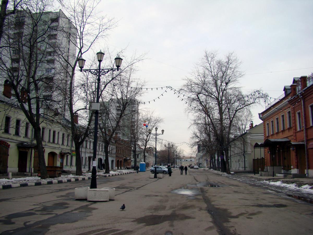 winter city lane with - photo #2