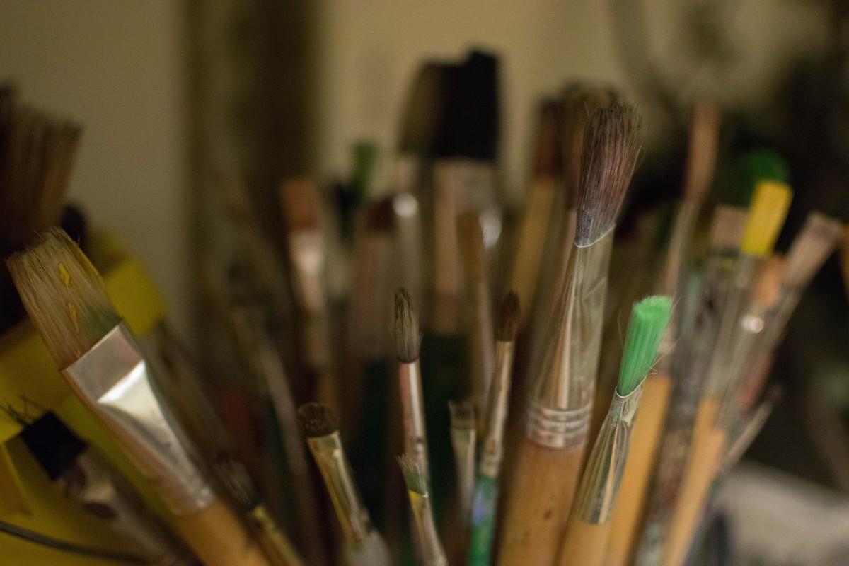 images gratuites vert couleur espace de travail artiste peindre pinceau art peintre. Black Bedroom Furniture Sets. Home Design Ideas