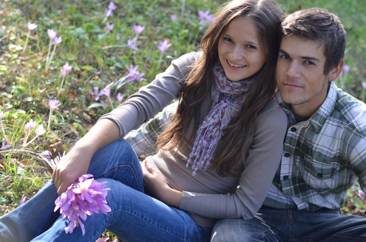 Очень молодая пара