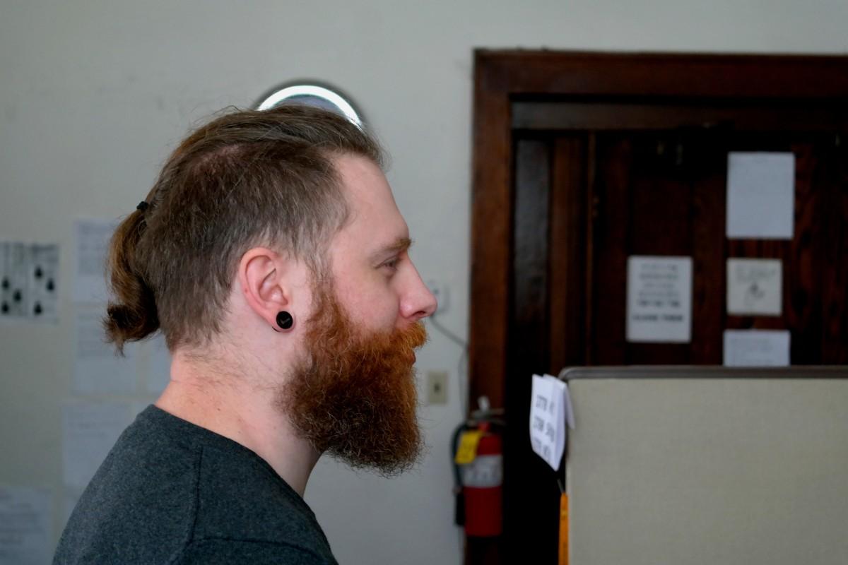 man, hair, male, portrait, young, hairstyle, beard, hipster, head, ponytail, bearded, sense, facial hair