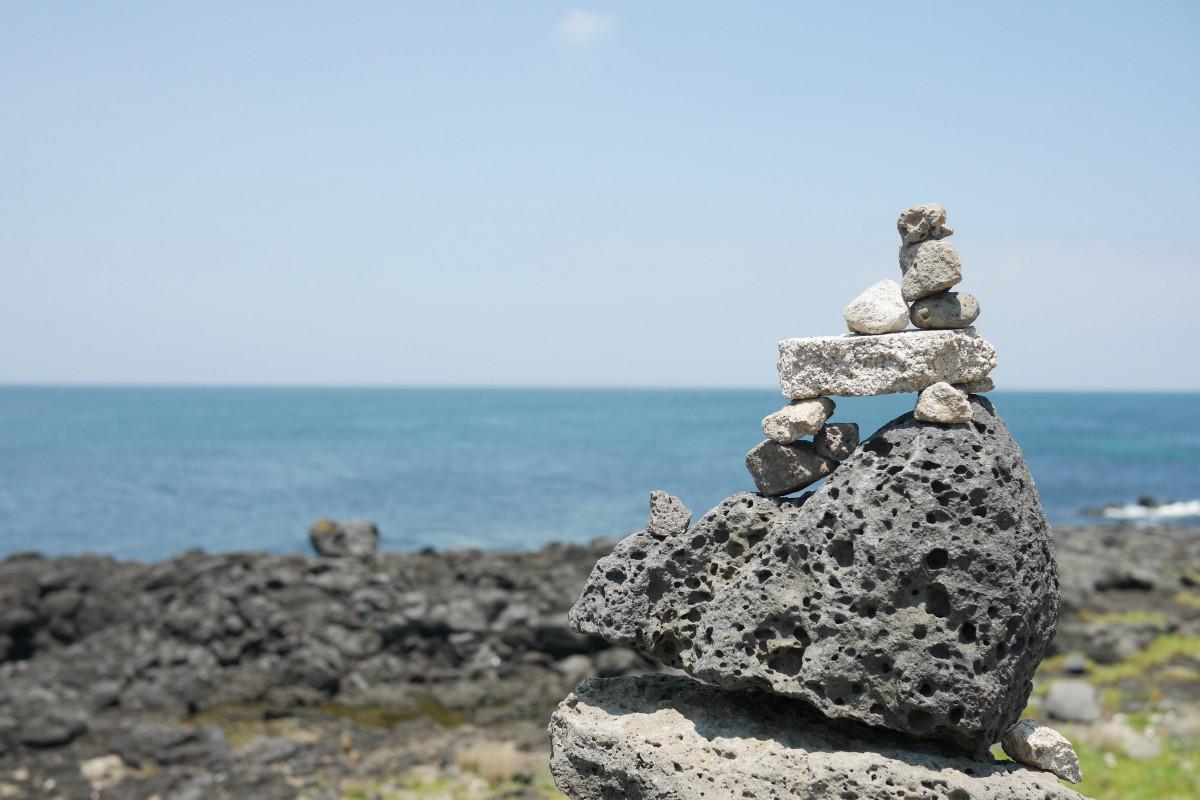 Free images beach sea coast sand rock ocean sky for Landscaping rocks corpus christi