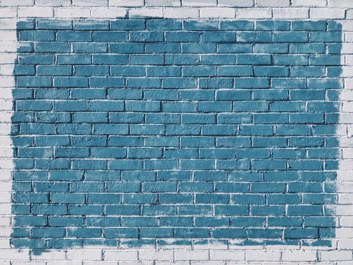 Fotos gratis blanco pared color azulejo azul pared - Ladrillos de piedra ...