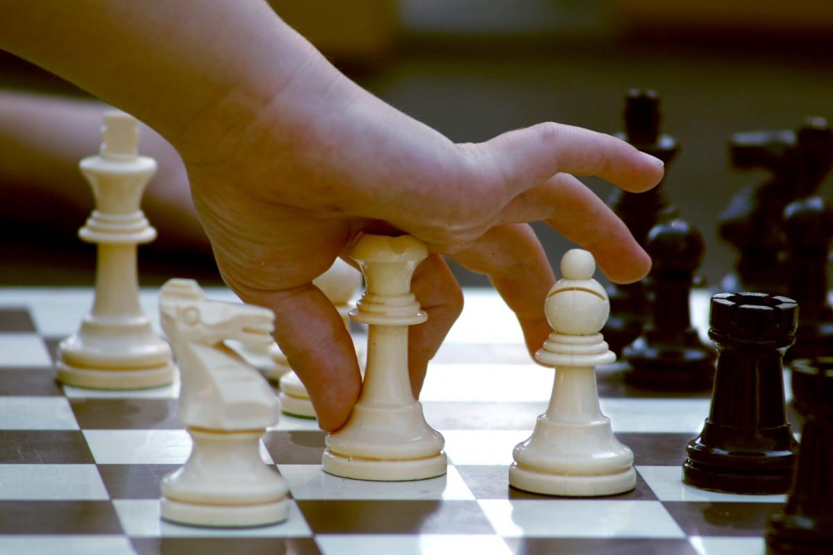 Рисовании, картинка с шахматами