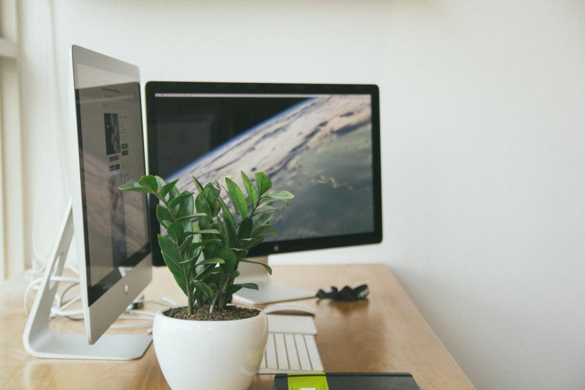 fresh clean workspace home. Desk, Mac, Apple, Table, Light, Wood Fresh Clean Workspace Home M
