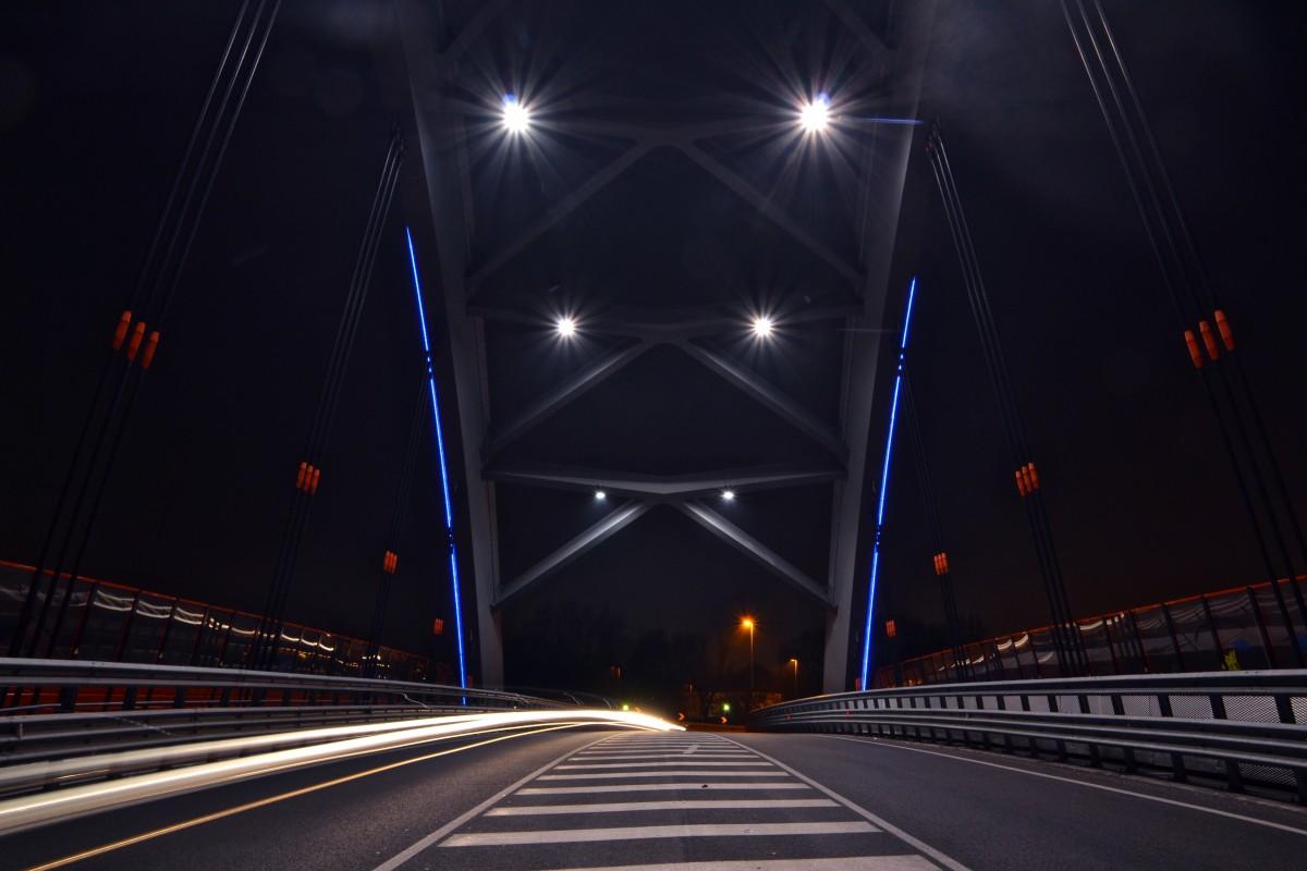 light, road, bridge, night, highway, tunnel, darkness, lane, infrastructure, symmetry