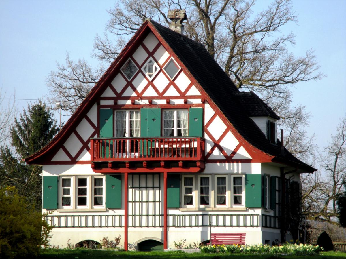 images gratuites architecture maison toit b timent chalet fa ade propri t suisse. Black Bedroom Furniture Sets. Home Design Ideas