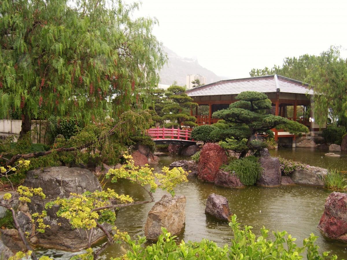 Images gratuites la nature pont fleur parc jardin for Rocher jardin japonais