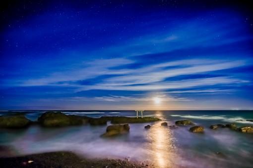 Gambar : Pantai, Laut, Lautan, Horison, Awan, Matahari