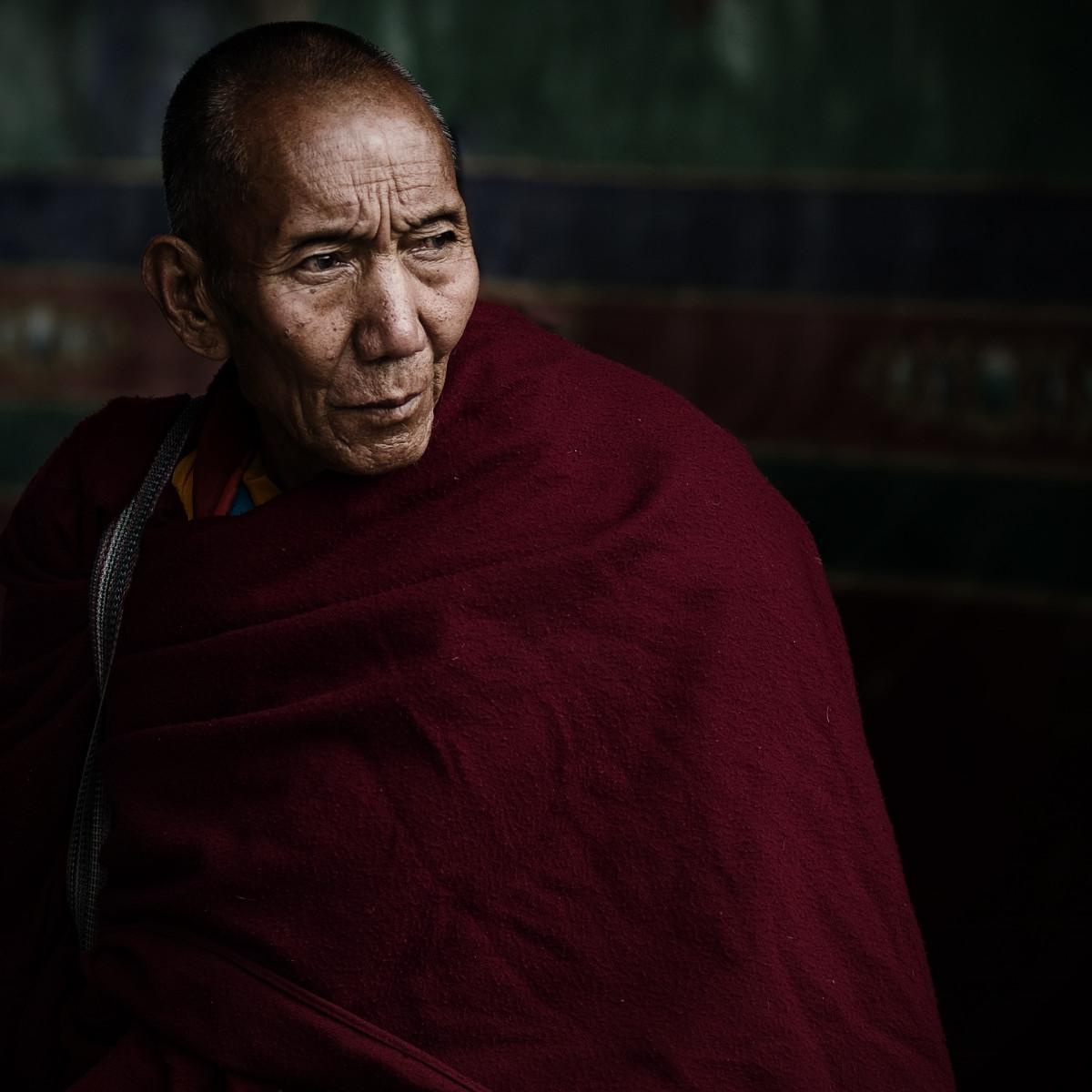 homem pessoa retrato Tibet lama China Captura de tela Vicissitudes Velho monge