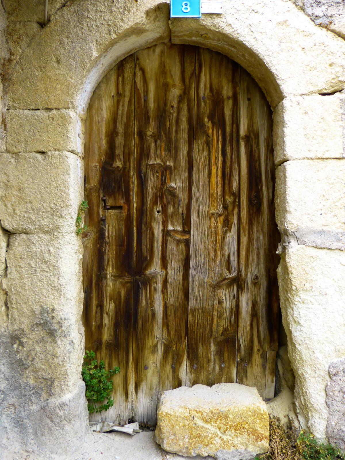 porte d'entrée de maison bois
