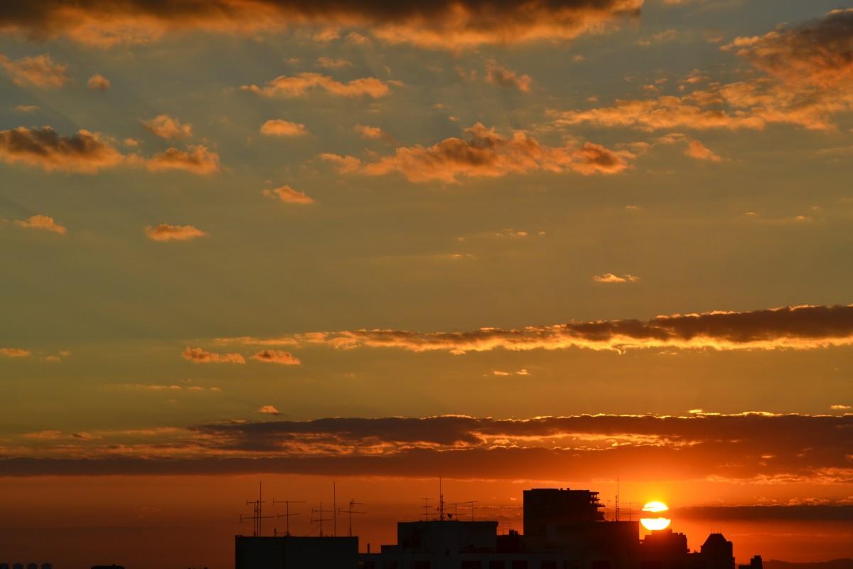 Free Images Horizon Cloud Sun Sunrise Sunset Dawn