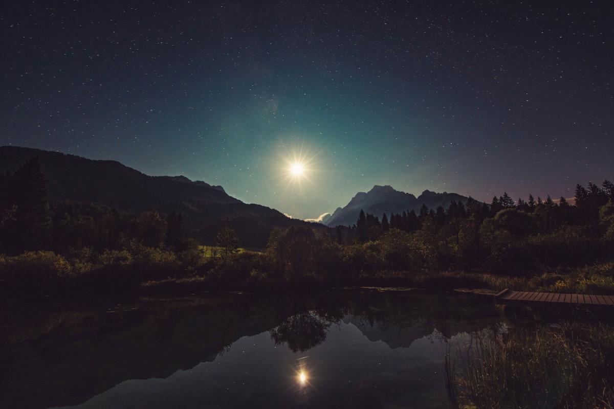 Картинки ночи спокойной природа, анимационные музыкальные