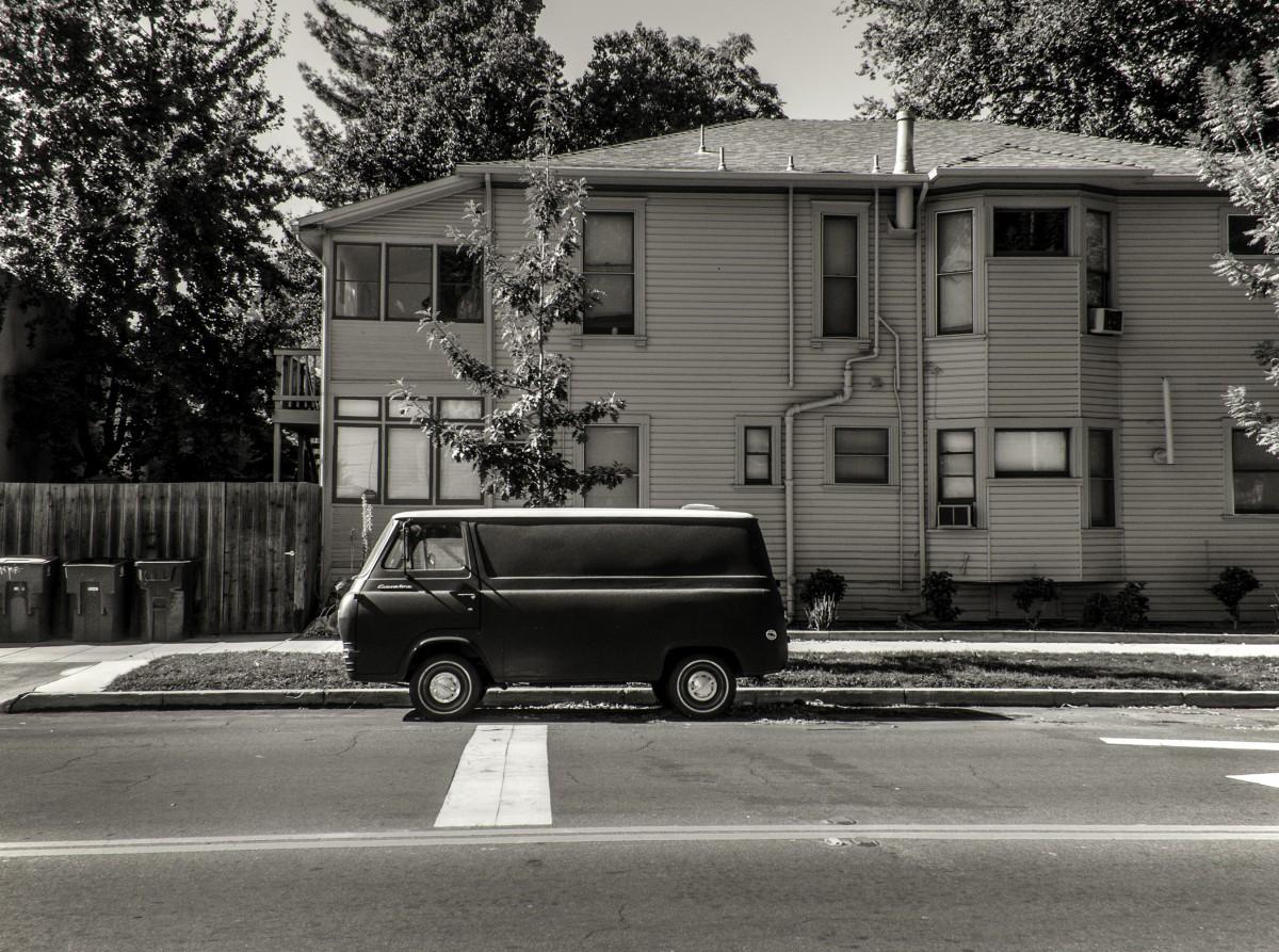 camioneta blanco negro